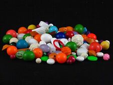 Large Mixed Lot Vintage Loose Plastic, Acrylic, Crackle, Faux Stone Beads