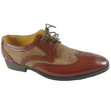 Stacy Adams Mens Dress Shoes Size 11 M Brown Kemper Wingtip Oxfords New Box