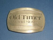 Old Timer Wood Stoves Belt Buckle - RARE - Midwest Stoves Inc. Mt. Vernon, Ill.