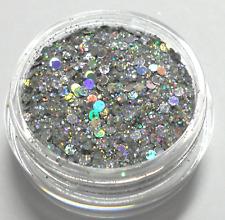 Nail Art SILBER Hologramm Glitter MIX *SILVER CRASH l 522 l* NEU nur bei uns!