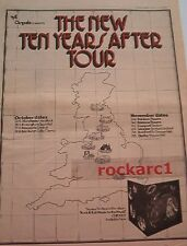 TEN YEARS AFTER 1972 Tour UK Poster size Press ADVERT 16x12""
