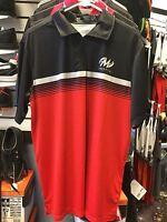 Motiv Momentum Polo - Red/Black/Silver Small Bowling Shirt