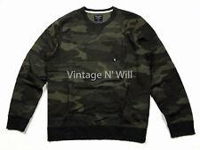 Abercrombie & Fitch Distressed Destroyed Camo Camouflage Sweatshirt Size XXL $65