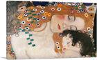 ARTCANVAS The Three Ages of Woman Mother and Child Canvas Art Print Gustav Klimt