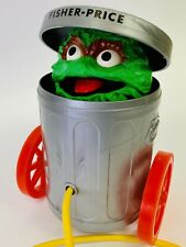 1977 Oscar The Grouch #177 Sesame Street Fisher-Price Muppets Vintage Pop Up Toy