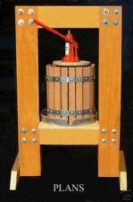 EASY!  5 gal wine making press PLANS-fruit-apple-grape