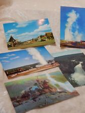 Yellowstone National Park Postcards 1960's lot of 5 Vintage