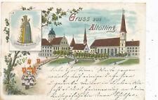 Litho-Karte Gruss aus Altötting, Gnaden-Mutter, Bayern (P3)