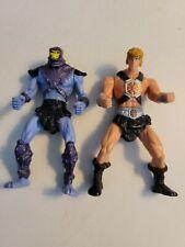 "2003 He-man McDonalds Mini Action Figure Toy 4 1/2"" &  Skeletor"