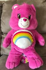 Care Bear - Pink Rainbow - Very Large 55cm Plush Soft Toy Japan - BNWT