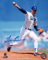 Tim Leary Signed 8X10 Photo Autograph LA Dodgers Releasing Pitch Auto w/COA
