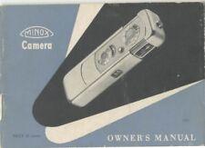 Minox Iiis Instruction Manual 1956