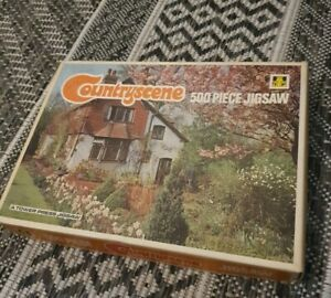TOWER PRESS Countryscene JIGSAW VINTAGE 500 piece - Blossom Time England - #121