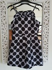 Topshop Lilac and Black Spotted Playsuit, Size UK 6 New Stunning!