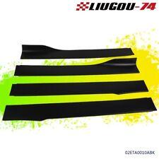 4PCS Universal Car Side Skirt Extension Rocker Panel Body Kit Lip Splitters