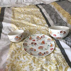 3 Piece Breakfast Set Kath Kidston Plate Mug & Bowl Kitchenalia Pottery