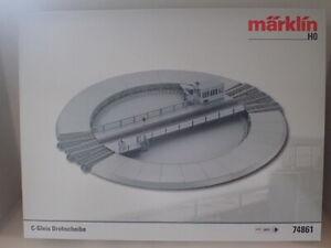 Märklin Digital Drehscheibe Sound LED 74861 C-Gleis H0 Modelleisenbahn OVP