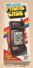 80's Retro Black Phone Case USED Fits Apple iPhone 3 3GS and 4