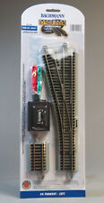 BACHMANN E-Z TRACK HO SCALE #4 TURNOUT LEFT HAND SWITCH roadbed gray 44557 NEW