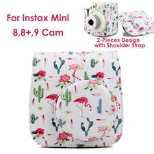 Fujifilm Instax Mini 8 9 Camera Flamingo Pink PU Leater Shoulder Case Cover Bag