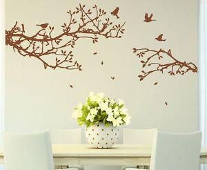 'Tree Branch with Birds' Art Vinyl Wall Sticker, DIY Wall Decal- HIGH QUALITY