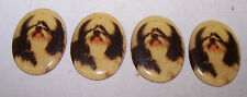 4 Shih Tzu ? Dog Decorative Medal 00006000 lions for Crafts Art Jewelry