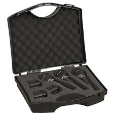 New Pyle PDMICKT80 Dynamic Cardioid Vocal Microphones With Clips/3 Mics & Clips