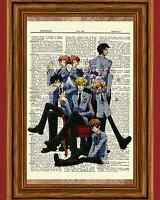 Ouran High School Host Club Dictionary Art Print Poster Picture Anime Manga