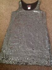 Stunning Lined Black Sequined Dress From Dusk By Sheila Yen Size 8