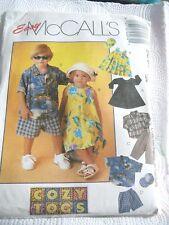 Sweet OOP McCALLS 9267 Tdlrs COZY TOGS Dress Shirt Pants Shorts PATTERN 1-2-3 UC