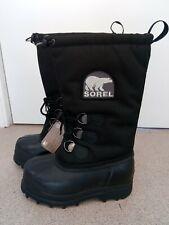 Sorel Glacier men's boots, black, UK size 9.5 - insulated winter boots