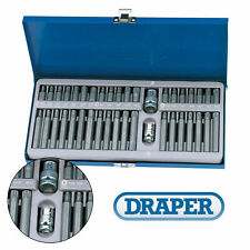 Draper Expert 40 Piece Mechanics Tx-Star/Torx/Hex/XZN/Spline Bit Set with Case