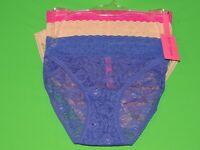 Betsey Johnson Womens Size M 3 Pack / Pair Lacey Bikini Panties / Underwear NEW