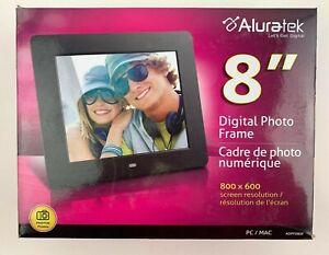 Aluratek 8 Inch LCD Digital Photo Frame USB SD/SDHC (800 x 600 Resolution) Black
