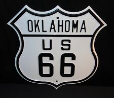 """NOS US Route 66 Oklahoma 16.5"""" X 16"""" Heavy Duty Ande Rooney Steel Street Sign"""
