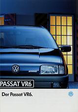 VW Passat VR6 Prospekt 8 92 brochure Volkswagen 1992 Auto PKWs Autoprospekt