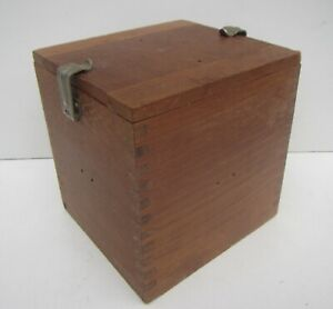 Old Air Ministry Wooden Instrument Box - Stamped 10H/3371 on the clips