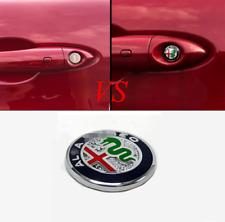 For Alfa Romeo Giulia Stelvio 2017-2019 Aluminum Car Door Keyhole Protector Trim (Fits: Alfa Romeo)