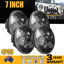 4x 7inch H4 400W High-Low Beam Round 4x4 DRL Headlight Offroad LED Driving Light