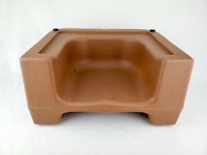 Carlisle Dual Brown Booster Seat chair restaurant child 7110 Double Sided Height