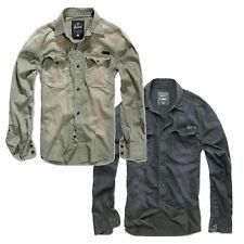 BRANDIT HARDY Denim Vintage Hemd S-XXL, Herren Jeans Freizeit Shirt Jeanshemd