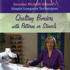 NEW DVD: LONGARM TECHNIQUES BORDERS PATTERNS or STENCILS Machine Quilting