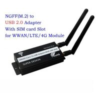 1 set NGFF(M.2) to USB Adapter With SIM card Slot for WWAN/LTE/4G Module