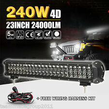 "4D+ 23""inch 240W Osram LED Work Light Bar Spot + Flood Combo 24INCH SUV OFFROAD"