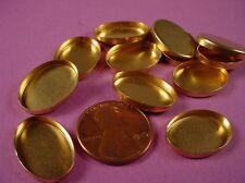 24 brass oval 18x13 high wall Oval Bezel Cups settings