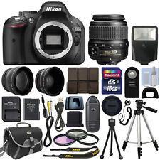 Nikon D5200 Digital SLR Camera Body 3 Lens Kit 18-55mm VR Lens + 16GB Best Value