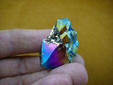 (R1-58) iridescent Aurora Crystal quartz titanium GEM gemstone Aura specimen