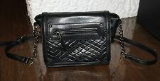 schwarze  DAVID JONES Handtasche Tasche Umhängetasche Schultertasche Damentasche