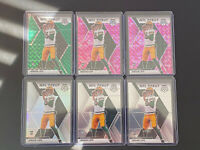 2020 Panini Mosaic Jordan Love NFL Debut 6 RC Lot, 1 Silver 2 Pink/1 Green Camo