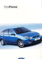 2002 Ford Focus German Prospekt Sales Brochure